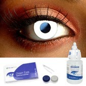 White Color Contact Lens Complete Set
