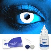 White UV Contact Lens Complete Set