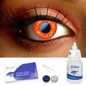 Wolf Eye Contact Lens Complete Set