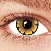 Yellow Daisy Contact Lenses