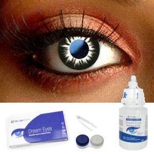 Black Circle Contact Lenses Complete Set