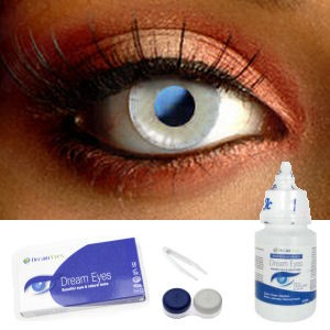 Blue & Yellow Desire Contact Lenses Complete Set