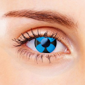 Blue Flower Contact Lenses