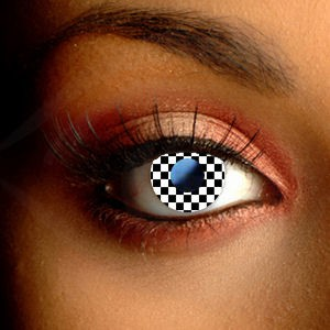Checkerboard Contact Lenses