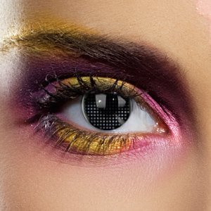 Black Mesh Contact Lens with case