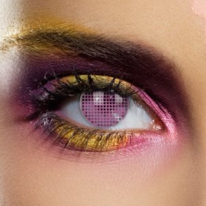 Color Vision Pink Mesh Contact Lenses (Pair)