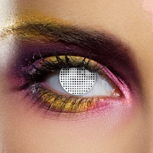 Color Vision White Mesh Contact Lenses