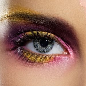 EDIT Glimmer Black & Gold Contact Lenses (Pair)