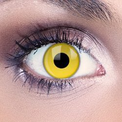 Funky Eyes Yellow UV Contact Lenses