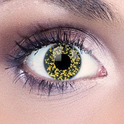 Glimmer Black & Gold Contact Lenses