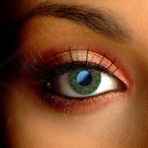 Color Vision Glimmer Green Contact Lenses
