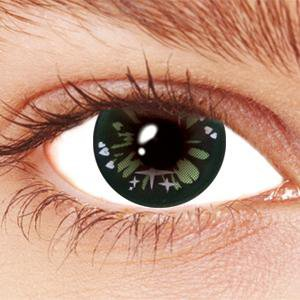 Green Party Contact Lenses
