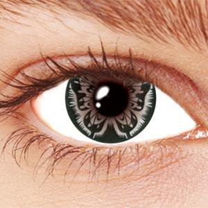 Grey Butterfly Contact Lenses