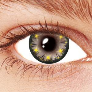 Grey Star Glow Contact Lenses