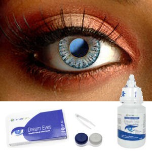 Natural Blue Color Contact Lenses Complete Set