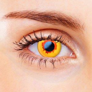 orange vampire contact lenses