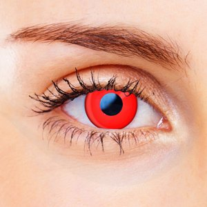 Color Vision Devil Red Contacts
