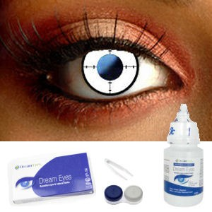 Target White Contact Lens Complete Set