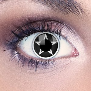 White Pentagram Contact Lenses