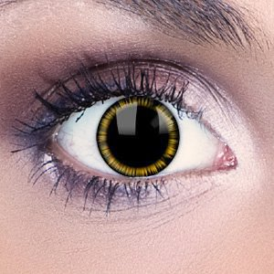 Yellow Manga Contact Lenses